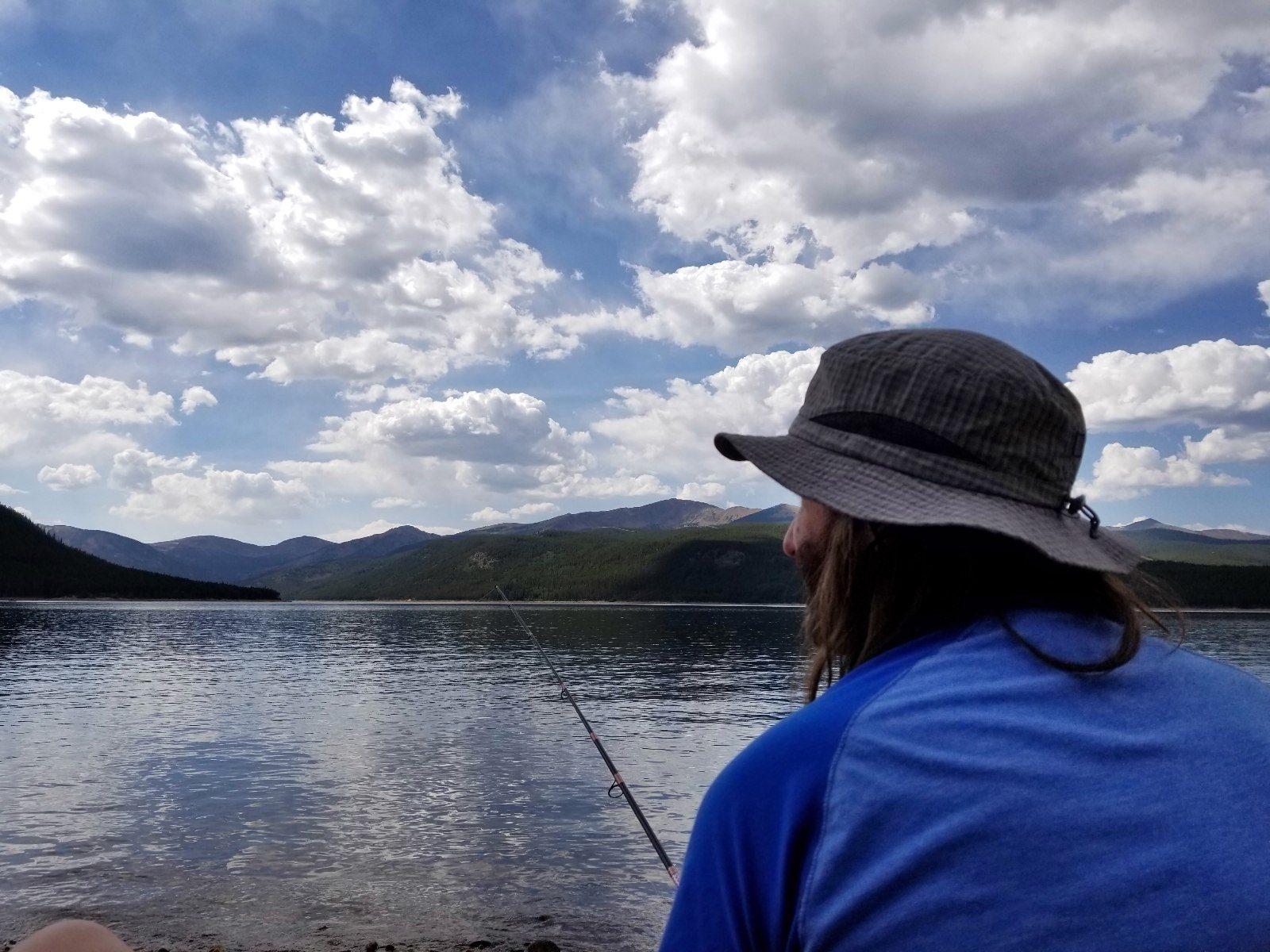 Fishing at Turquoise Lake CO