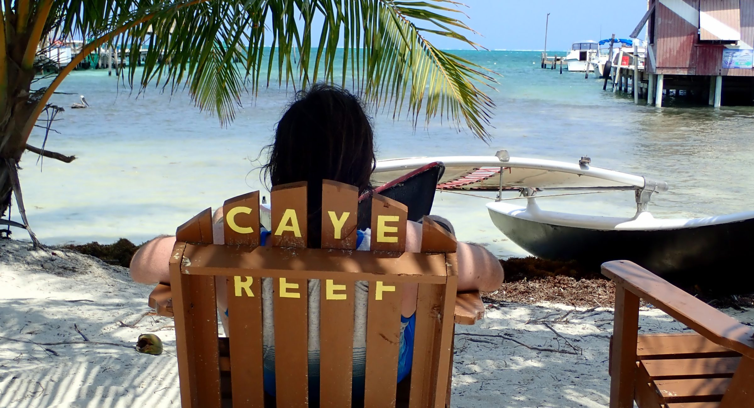 Relaxing on Caye Caulker
