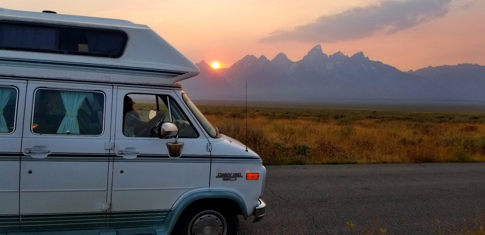 Grand Teton National Park Sunset Campervan
