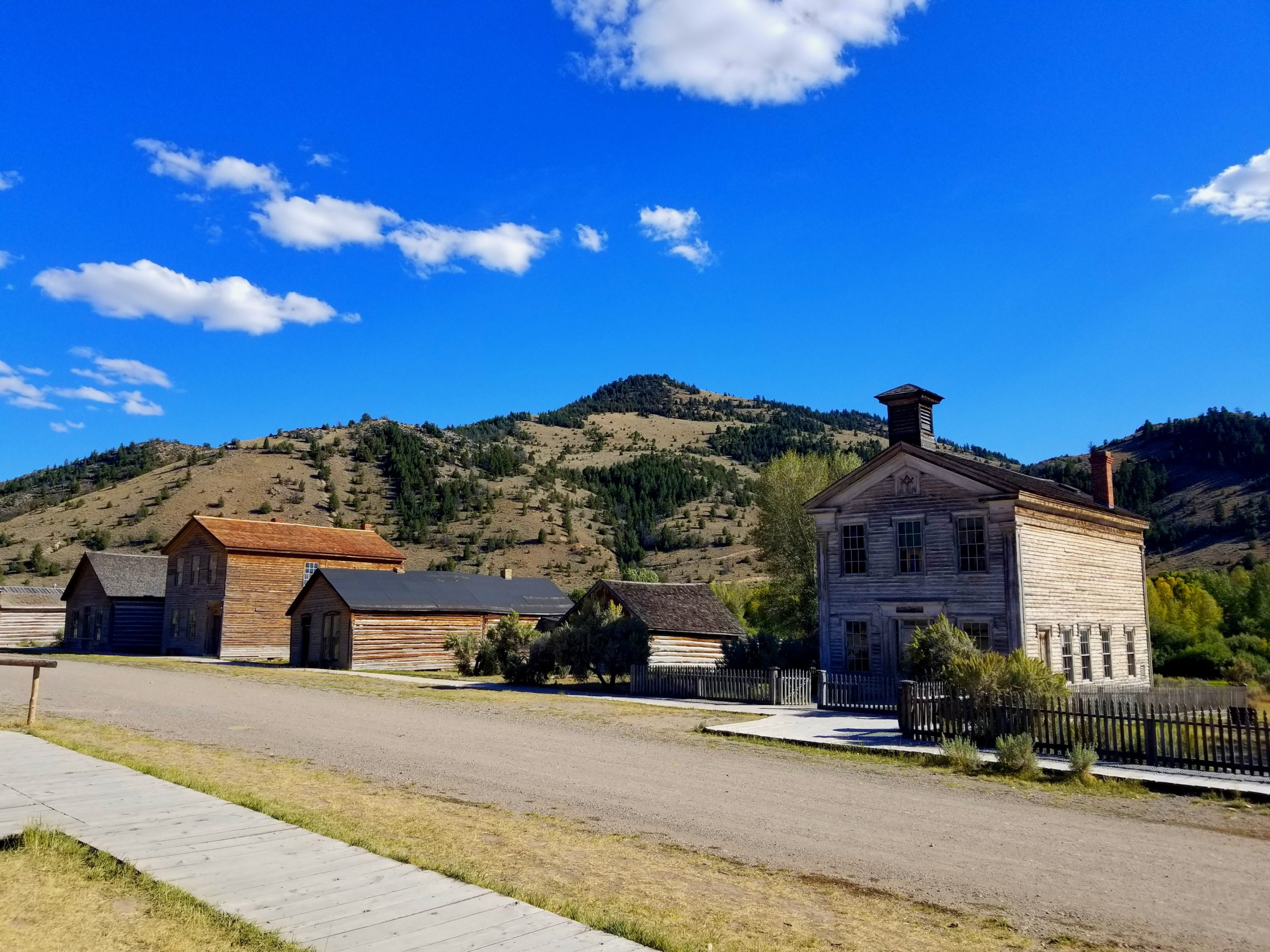 Southwest Montana ghost town Bannack State Park school house