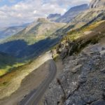 Windy Going-to-the-Sun Road in Glacier National Park