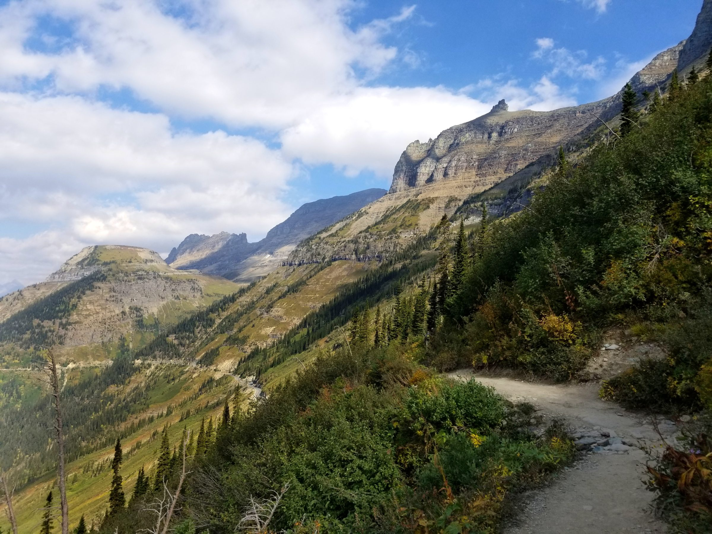 Highline Trail views in Glacier National Park