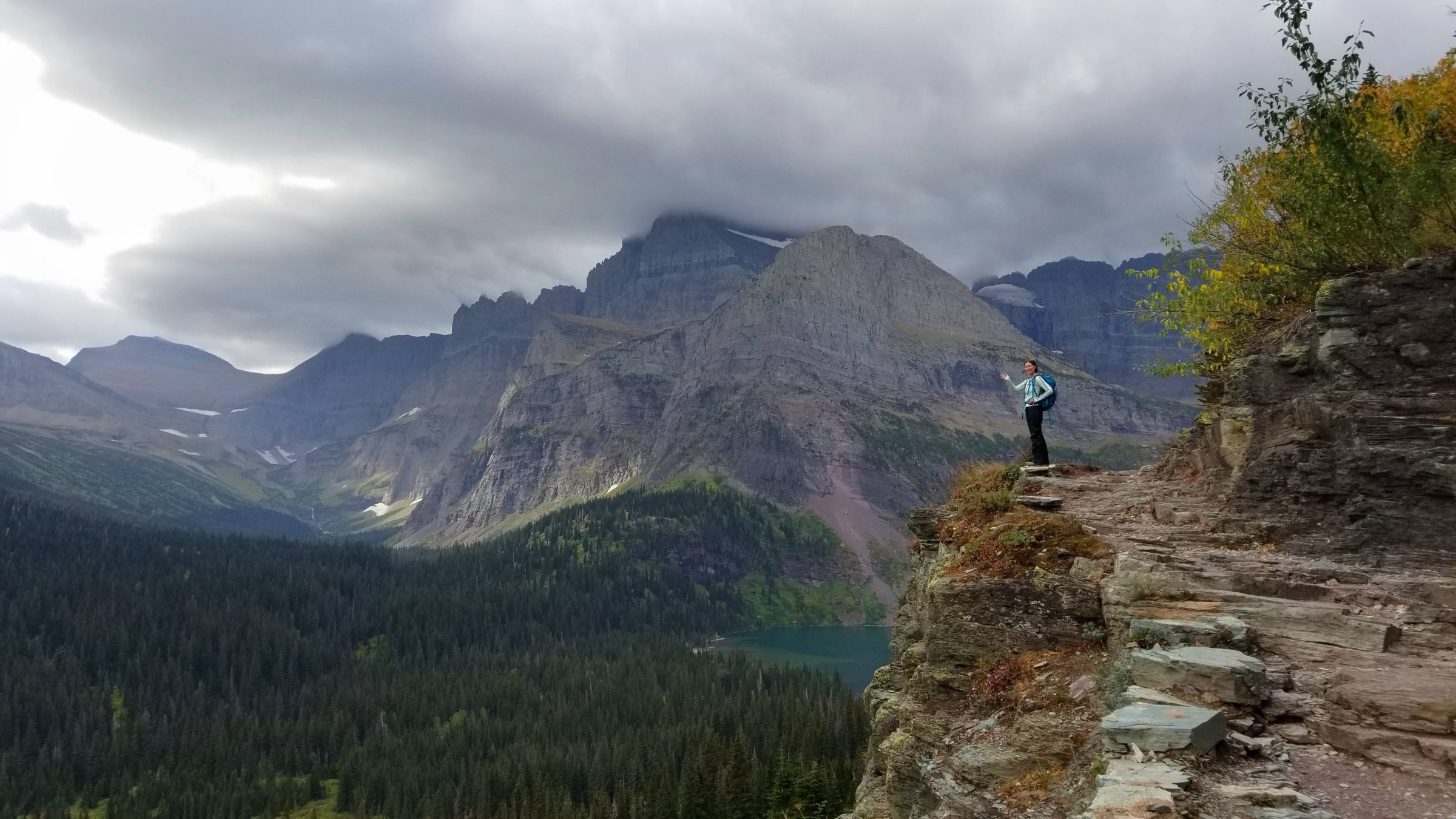 Check out these views! Hiking to Grinnell Glacier