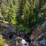 Creek rushing from Bell Lake