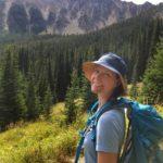 Sarah hiking to Bell Lake