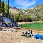Jimmy lounging at Bell Lake