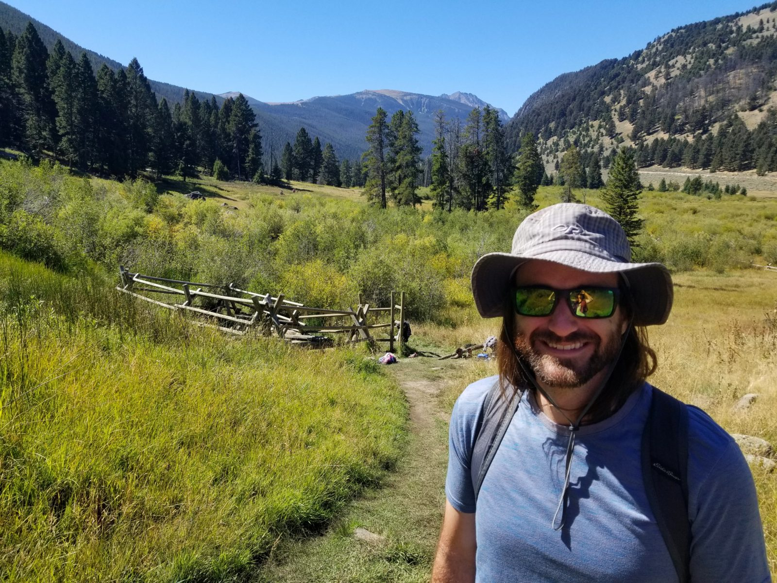 Jimmy in front of Upper Potosi Hot Spring