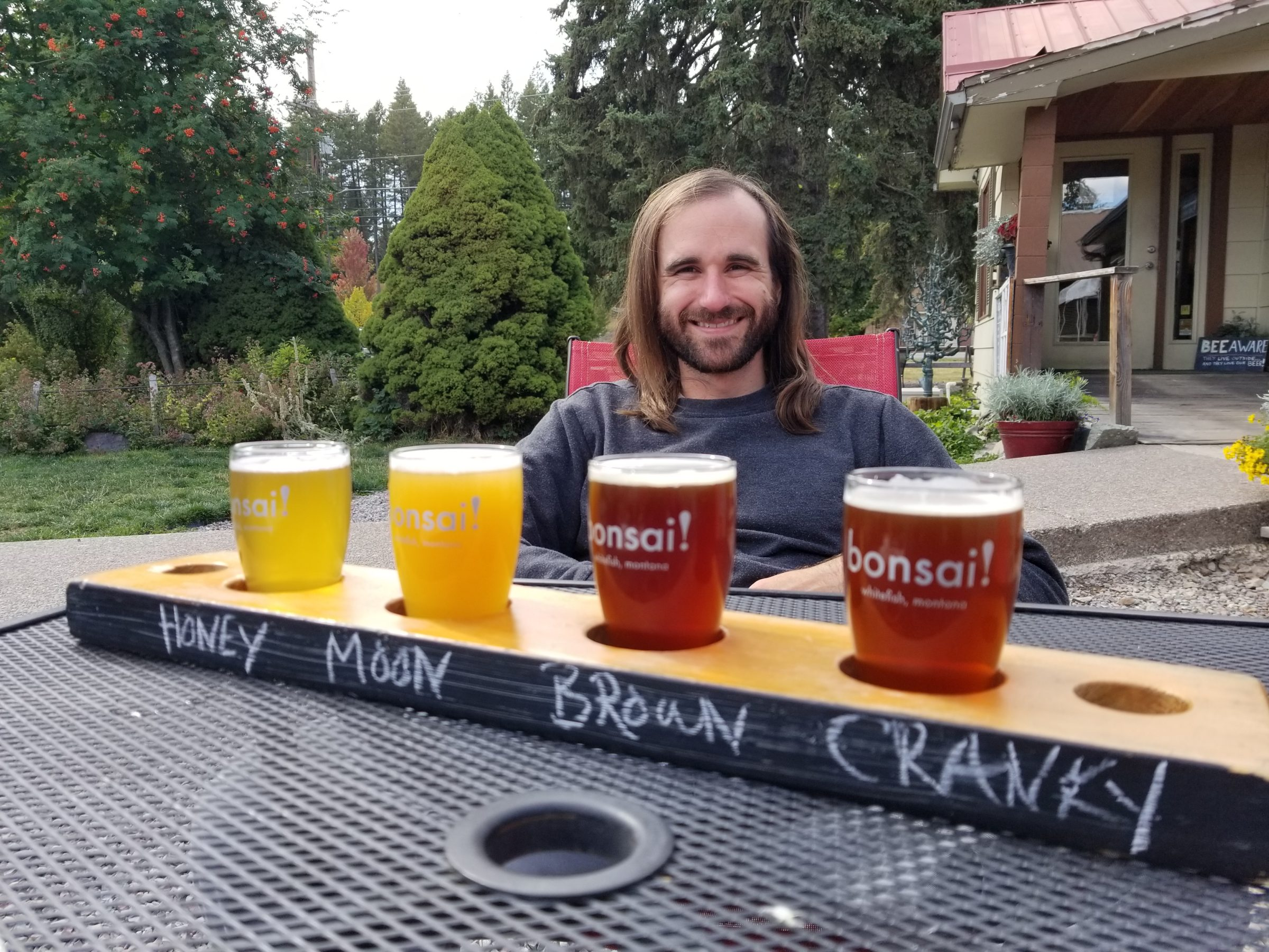 Try a Cranky Sheriff at Bonsai Brewing project, a brewery in Whitefish, Montana.
