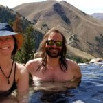 The Practical Vagabonds enjoying a soak in Goldbug Hot Springs