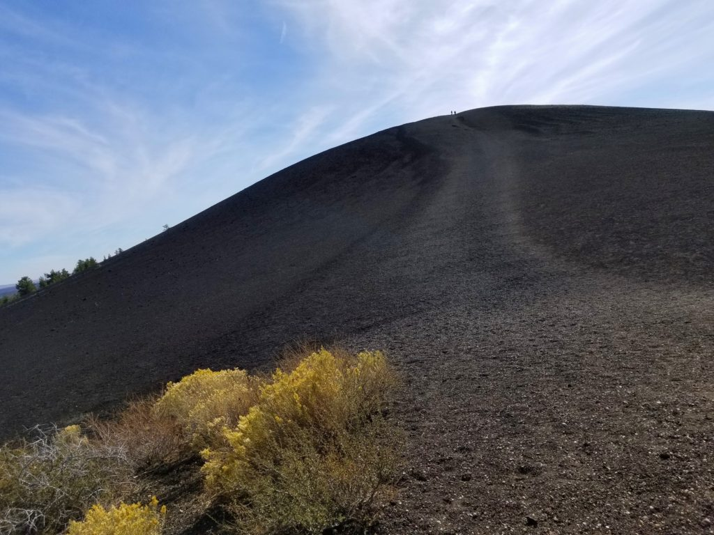 Take a stroll up Inferno Cone where you'll be rewarded with 360-degree views of Craters of the Moon National Monument.
