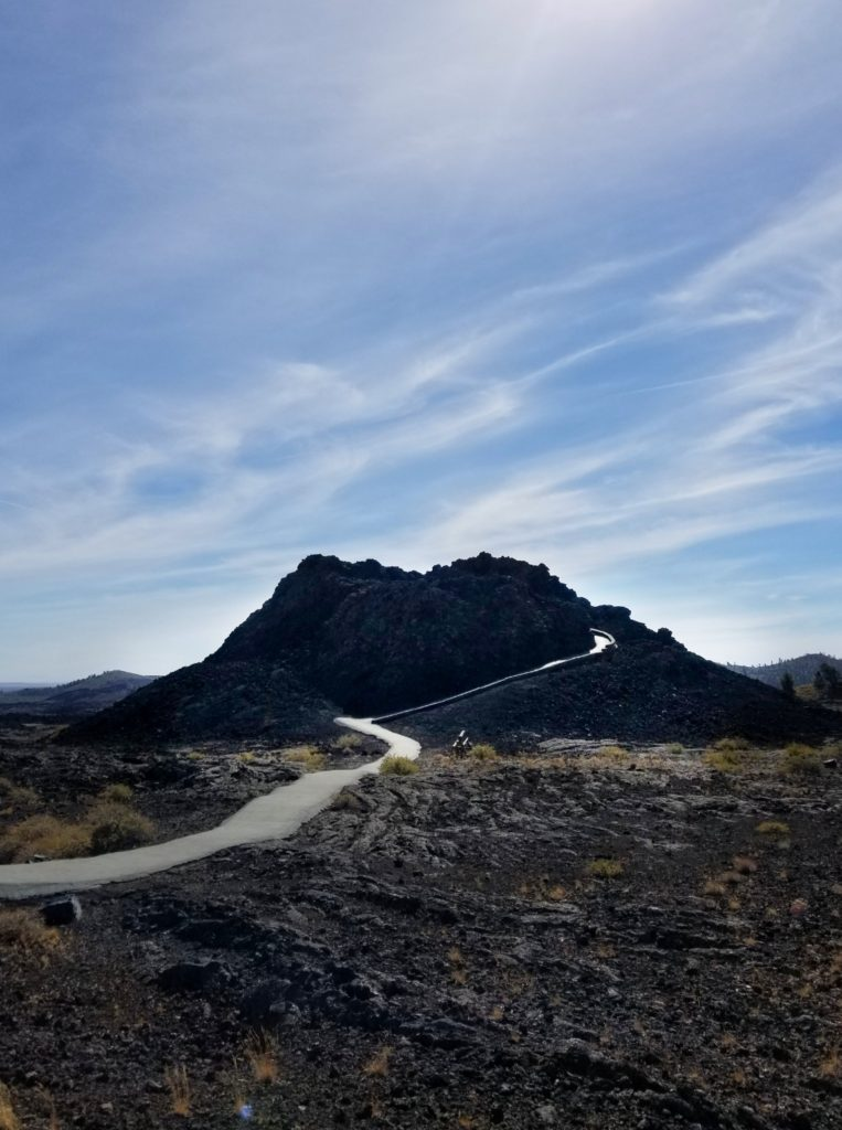 Take a stroll through the Spatter Cones at Craters of the Moon National Monument.