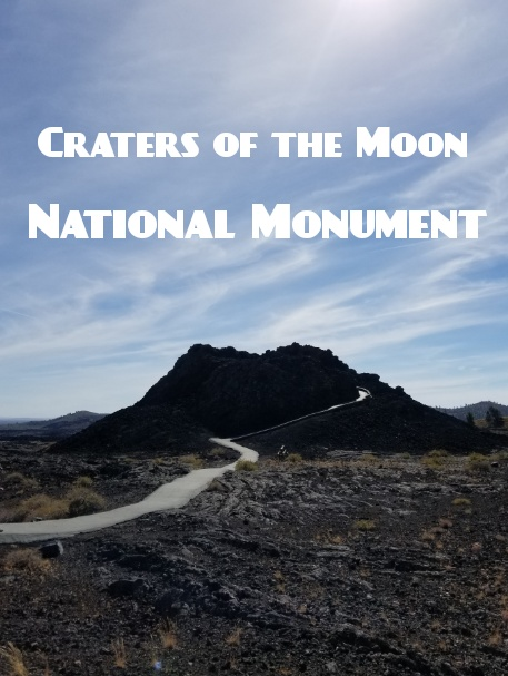 Stroll through spatter cones, hike up a cinder cone or venture into a lava tube cave all at Craters of the Moon National Monument!