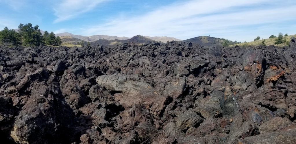 A'a (Ah-ah) lava at Craters of the Moon will chew your boots up and spit them back out!