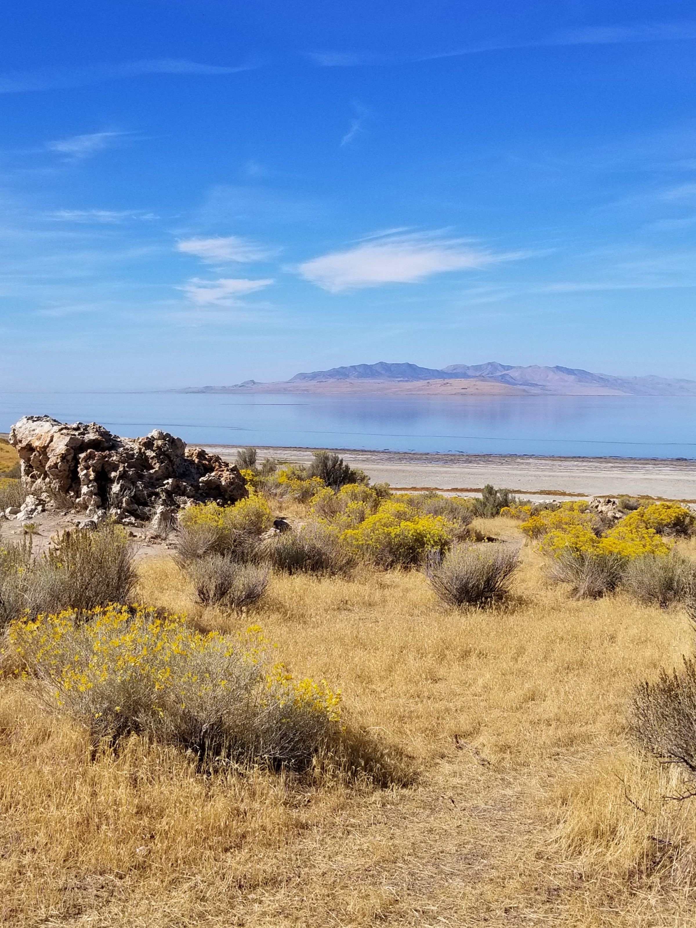 Still waters surround Antelope Island State Park