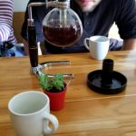 Watching the syphon coffee maker