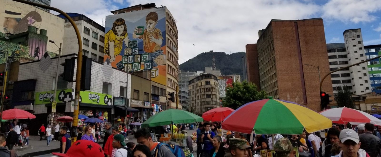 Exploring downtown Bogota