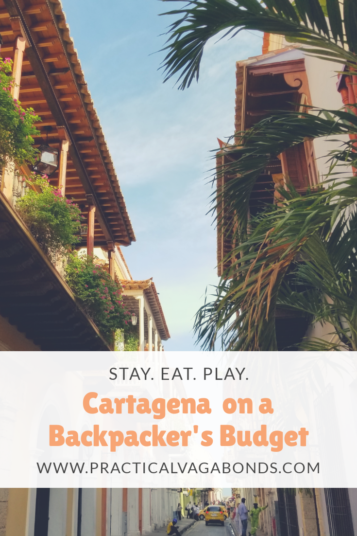 Cartagena, Colombia can be an expensive city to visit compared to the rest of Colombia. We figured out how to stay, eat and play on backpacker's budget so you can visit no matter what your budget! #backpacking #travelinspiration #colombia #cartagena