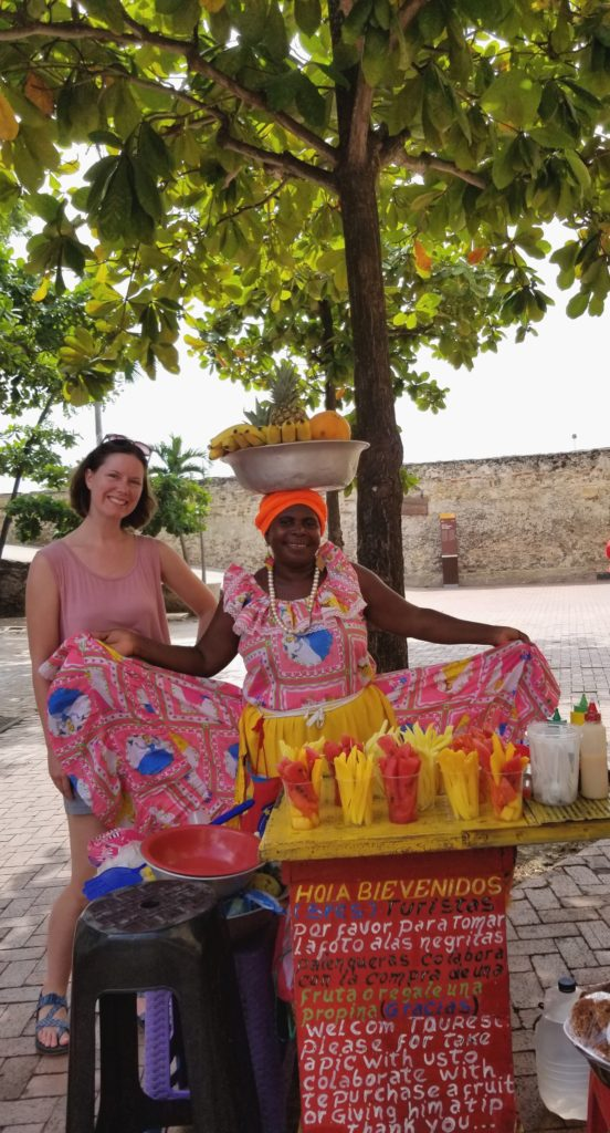 Fresh fruit makes for inexpensive breakfast or snack in Cartagena, Colombia