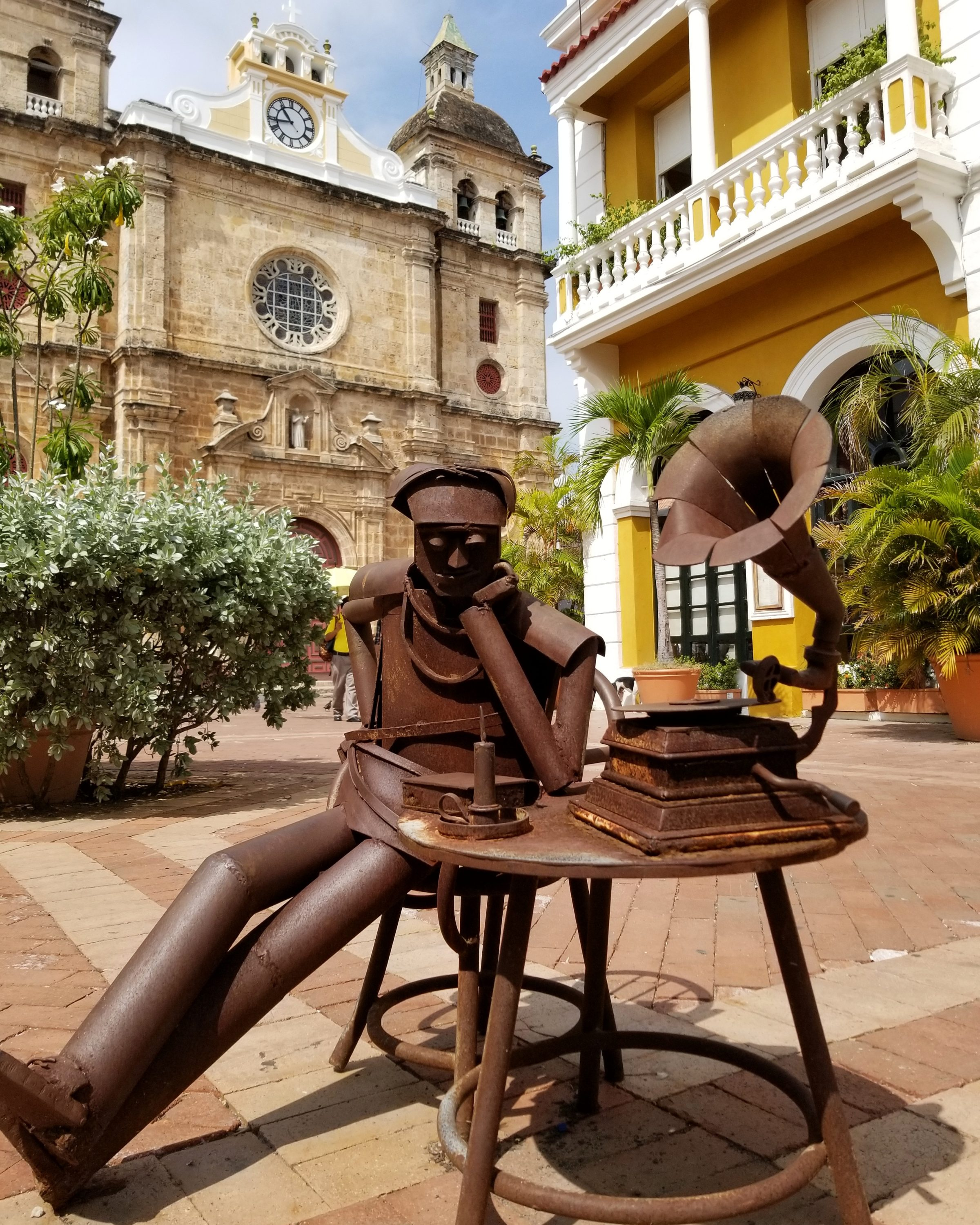 Strolling through the sculptures of daily life was one of our favorite free things to do in Cartagena