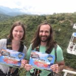 After the 140 meter bungee jump in San Gil.