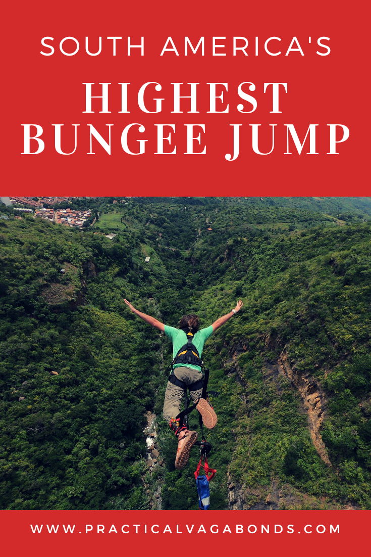 At 140 meters (496 feet), bungee jumping in San Gil, Colombia in the highest in all of South America! Take the leap if you dare...