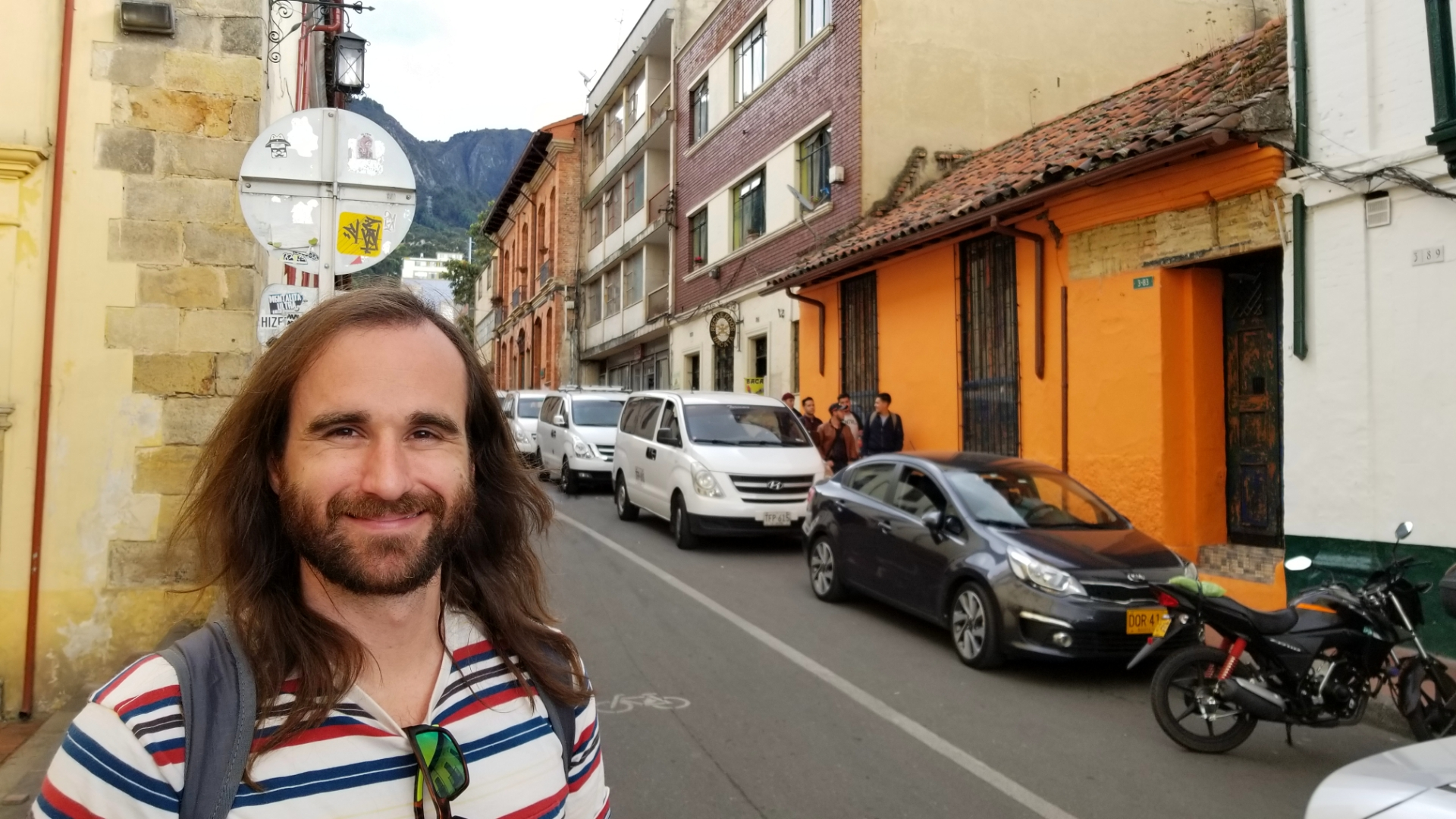 Jimmy exploring the streets of Bogota