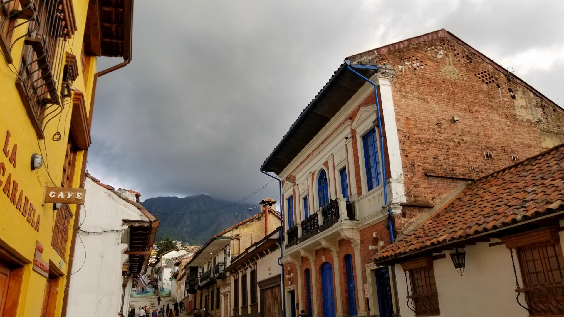 Moody skies over Bogota