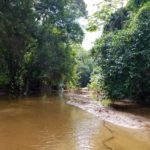 You have to cross two creeks on the way to Cabo San Juan campground in Tayrona