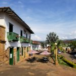 Barichara has a lovely town square with shops and patios to enjoy a glass of wine