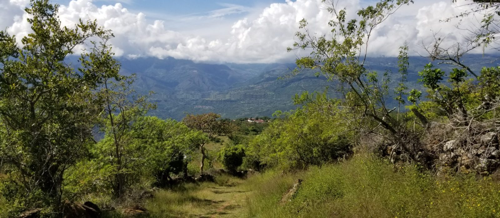 Guane in the distance during our hike of El Camino Real