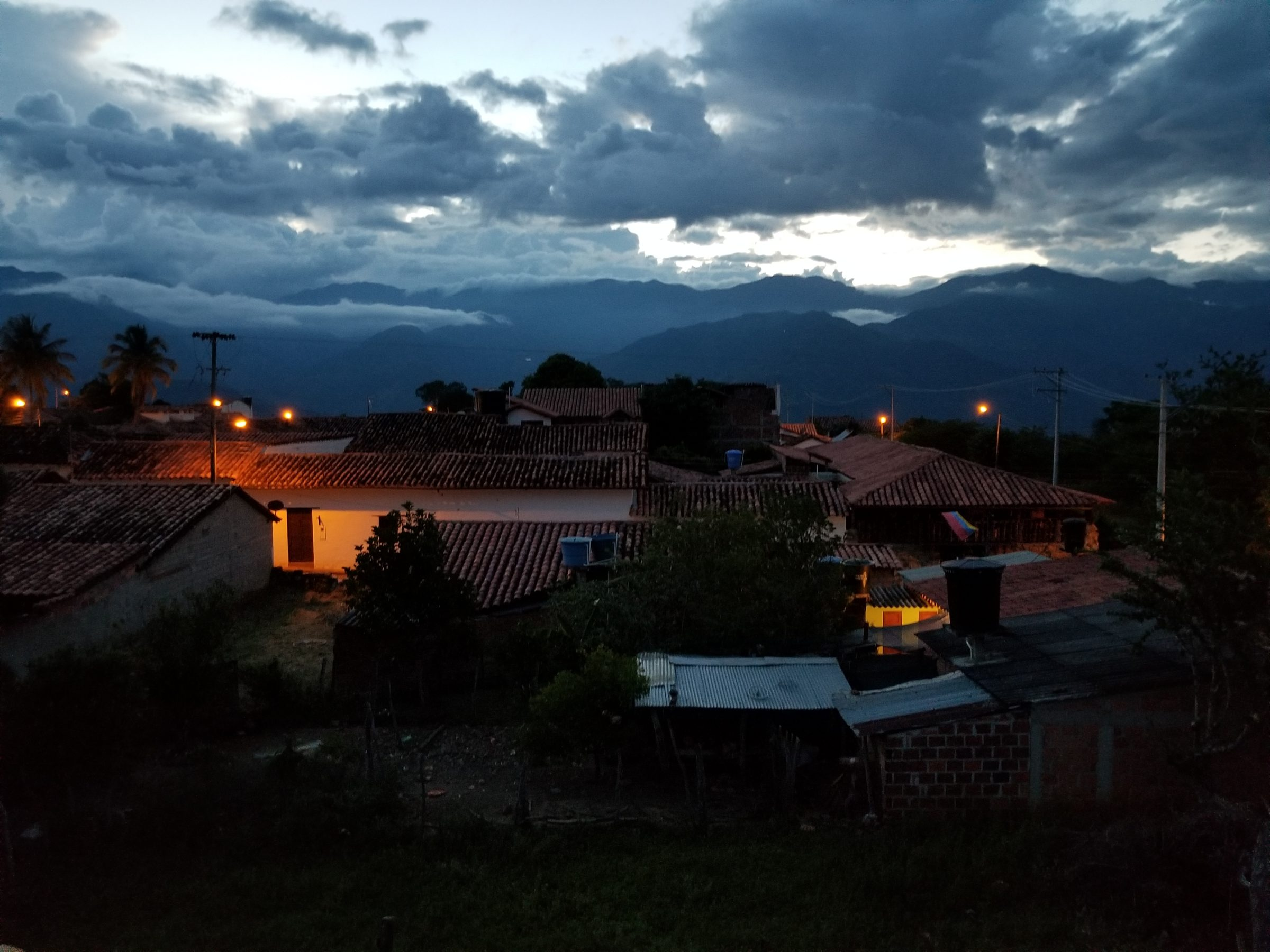 View from our room in Guane as we settle in for the night