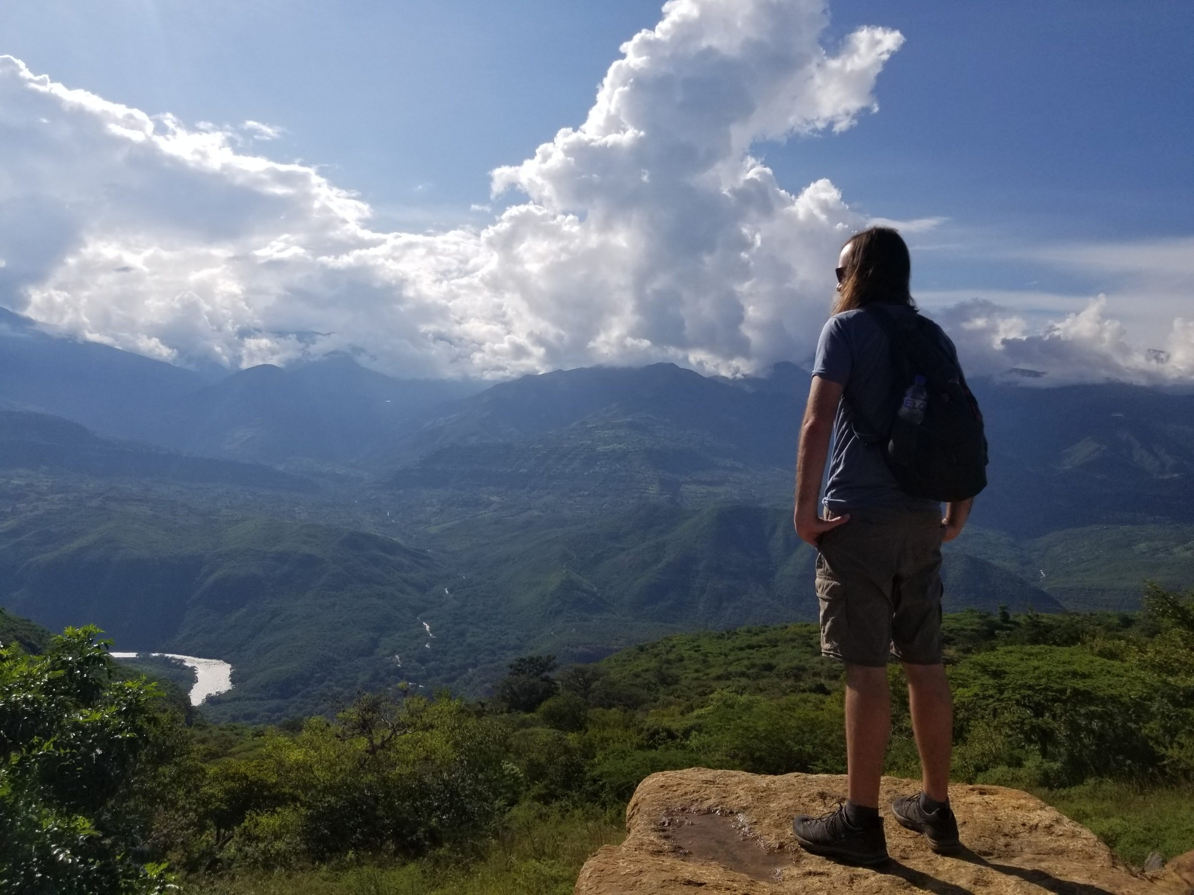 Jimmy overlooking the beautiful view of the river from Guane