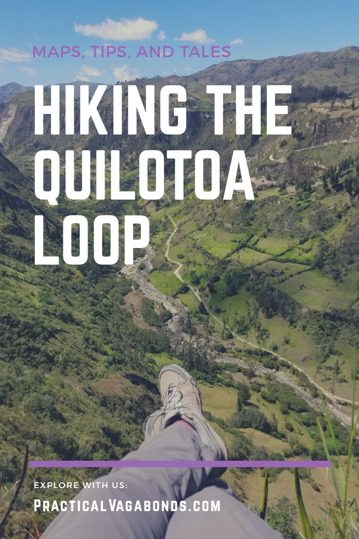 Hiking the Quilotoa Loop in Ecuador is a magical experience. Check out our free map and tips to help plan your adventure! #quilotoa #hiking #ecuador