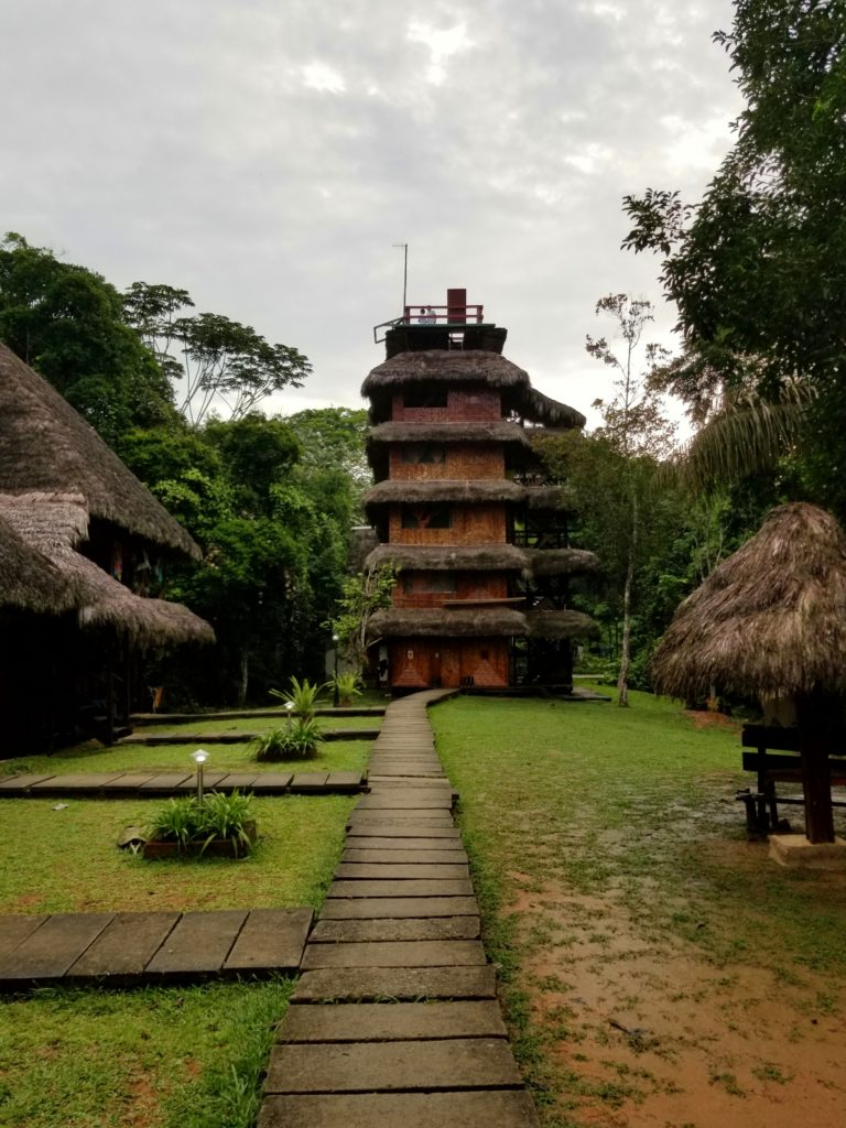 Caiman lodge in Cuyabeno Wildlife Reserve