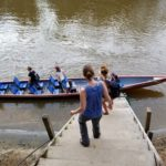 Canoes in Ecuador's Amazon take you between activities