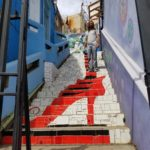 Colorful stairs of Valparaiso