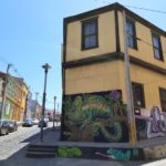 Graffiti and colorful buildings of Valparaiso