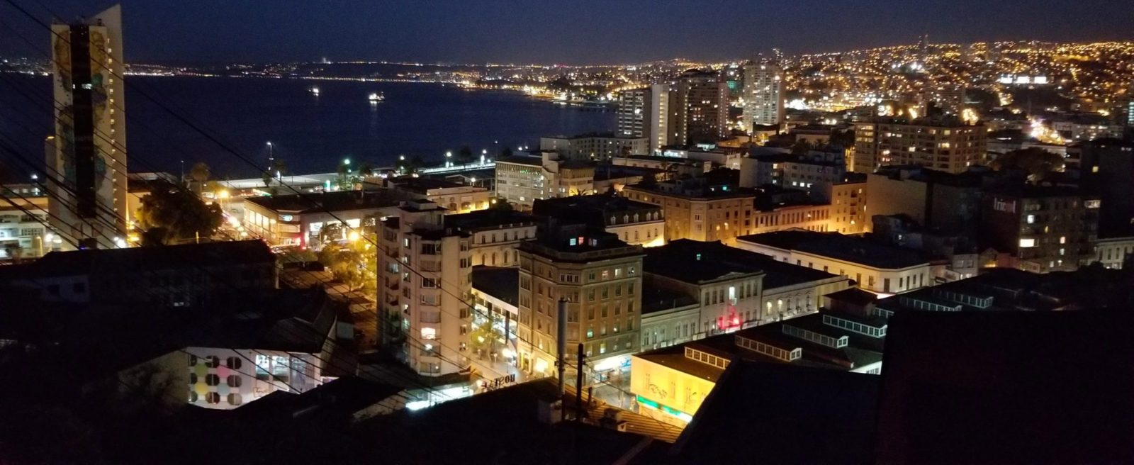 Valparaiso is most alive at night. Check out this beautiful skyline!