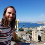Jimmy enjoying Valparaiso's views
