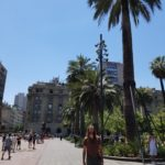 Strolling around downtown Santiago