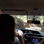Driving through Conguillo National Park