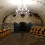 Wine cellar turned event space at Vina Cousino Macul in Santiago, Chile.