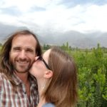 Snapping a selfie while touring wineries in Santiago